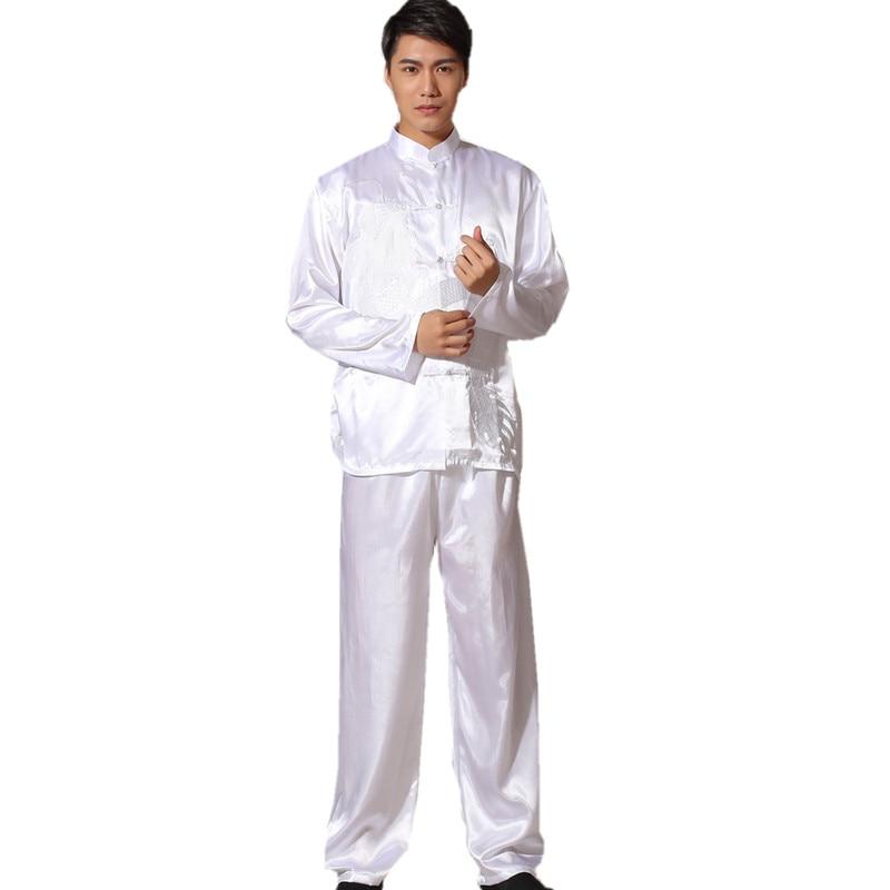 ჱNuevo chino tradicional de satén rayón Kung Fu traje vintage manga ...