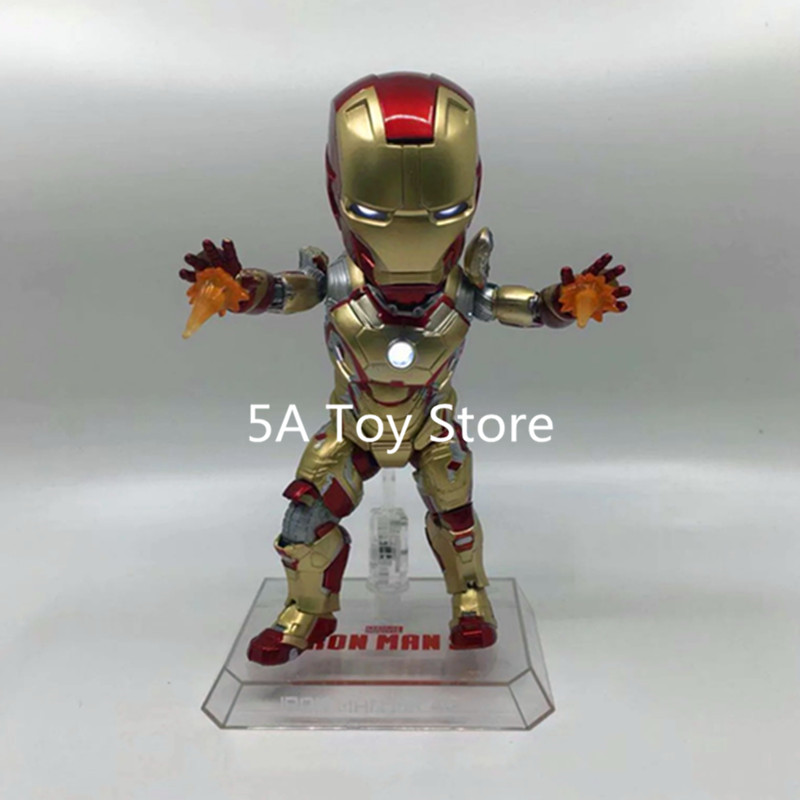 Marvel Toys Egg Attack EAA 036 Iron Man 3 MARK XLII MK 42 PVC Action Figure Collectible Model Toy with LED Light 18CM the avengers egg attack iron man patriot a i m ver super hero pvc ironman action figure collection model toy gift 18cm