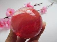 Rare Natural Smelting Red Quartz Quartz Crystal Ball HEALING Decoration Resistant Healing Stone Feng Shui Decoration