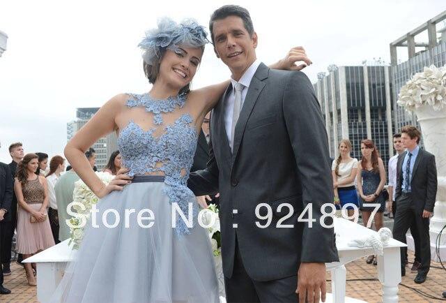 Vestido En de de 1145 Azul de moda noche Frente caliente Largo Aplique evfa Venta vestidos y Atrás enAlibaba bodas eventos Corto Cielo qZSp8
