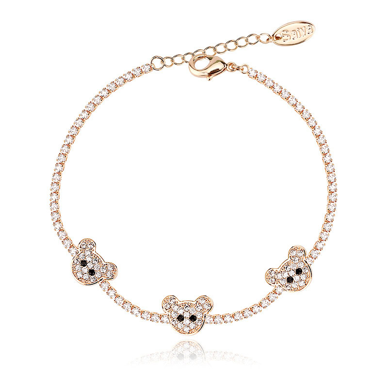 sexy_life88 2017 new products Fashion Jewelry Bear link chain for Women and Teen Girls Adjustable Tag Charm Bracelet SL