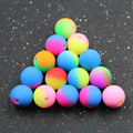 Top Quality 100pc 13mm Mix Color Rainbow Color Acrylic Beads Neon Matte Round Spacer Loose Beads Jewelry Handmade