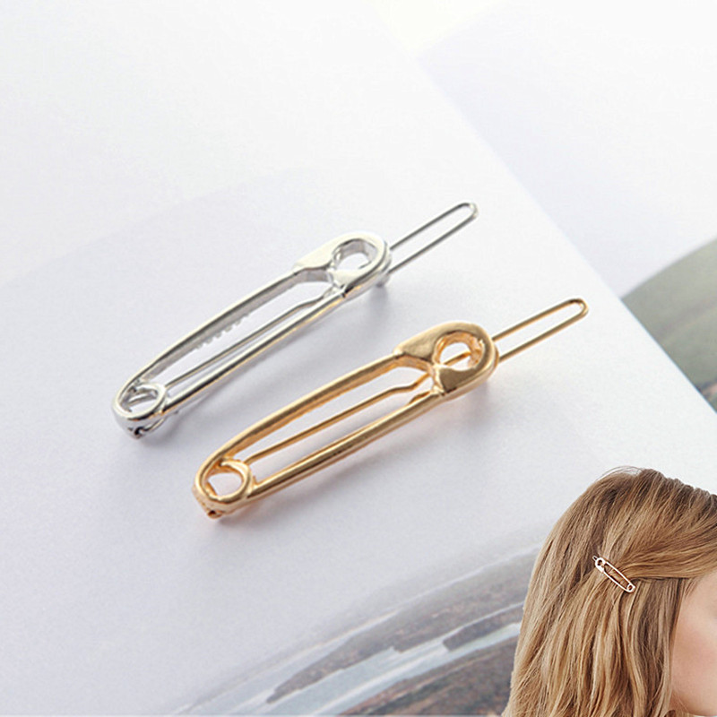 Hair Jewelry New Fashion Europe And The United States Accesorios Para El Pelo Simple Metal Pin Hairpin Girls Vintage Gold Color Hairpin