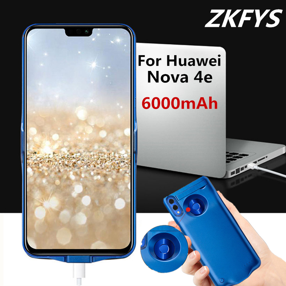ZKFYS 6000mAh Thin And light Fast Phone Charger Battery Case For Huawei Nova 4e Portable High Quality Power Bank