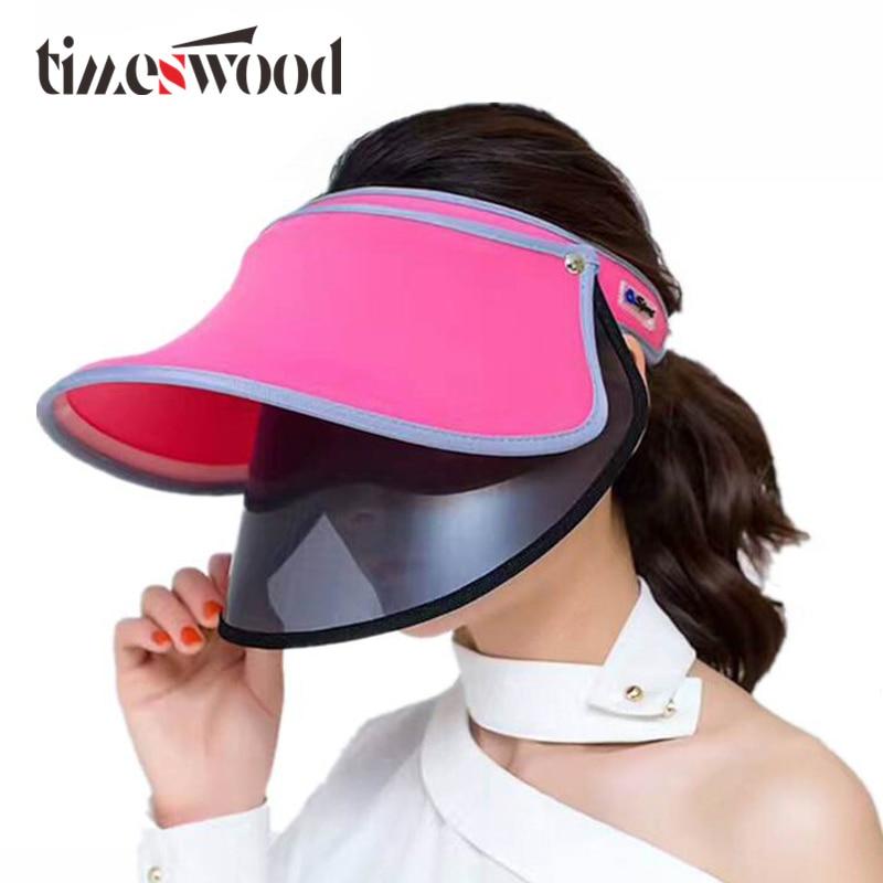 [TIMESWOOD] Sieviešu ceļojuma saules cepures Vasaras virsotnes - Apģērba piederumi