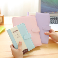 A5 A6 Macaron Spiral Notebook With Refill Candy Color Loose Leaf Notepad Planner Diary Girlfriend Gift