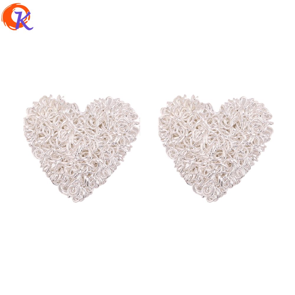 Cordial Design 50Pcs/Lot 23*24MM Earring Findings/Heart Shape/Earring Base Parts/Hand Made/Earring Making/Jewelry Accessories
