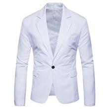 купить!  Oeak Мужская Мода Роскошный Сплошной Цвет Одной Кнопки Костюм Пальто Новый Бизнес Свадьба Повседневн �