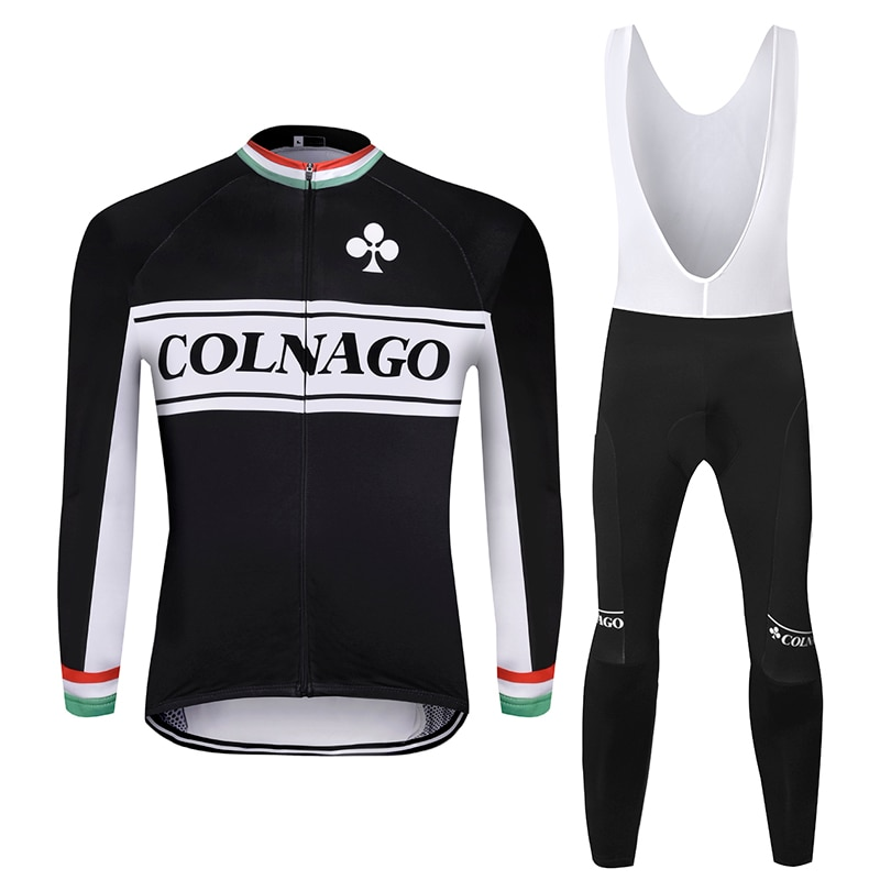 2019 COLNAGO men winter thermal bike clothes windproof rode bicycle clothing suits roupa ciclismo jacket cycling jersey sets