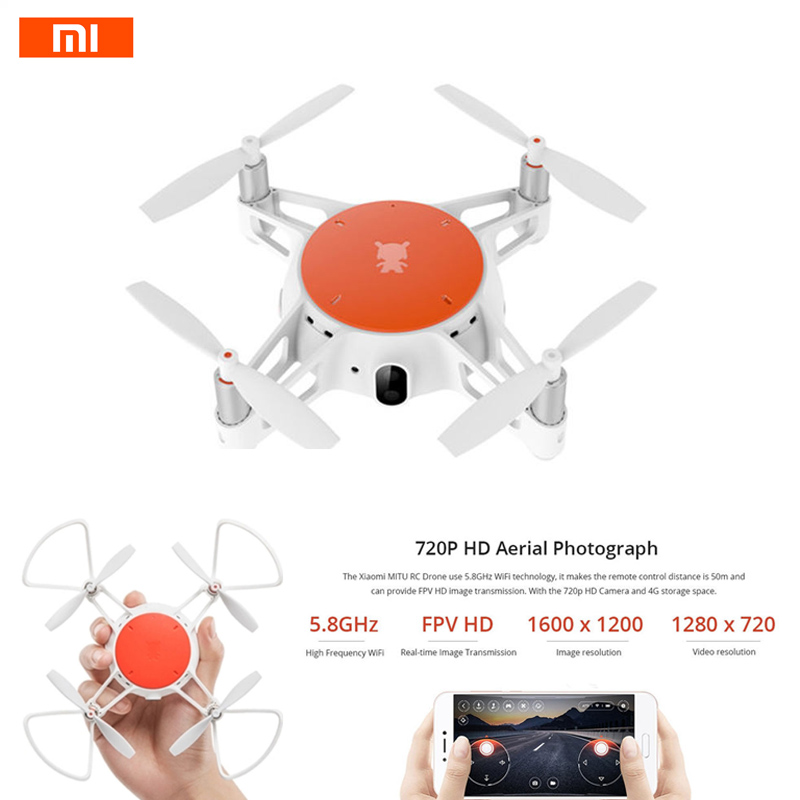 Original Xiaomi MiTu WiFi FPV With 720P HD Camera Multi-Machine Infrared Battle Mini RC Drone Quadcopter BNF