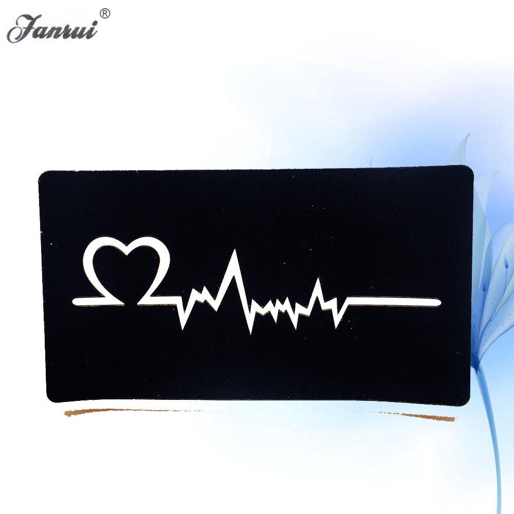 ECG Cardiogram Pattern Henna Tattoo Stencils For Women Body Legs ARM Hands Tattoo Template For Airbrush Painting Makeup Tools
