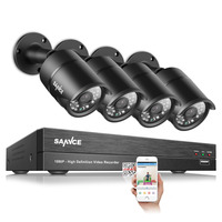 SANNCE 4CH 1080P HDMI P2P TVI DVR Surveillance System Video Output 4PCS 2000TVL 2 0MP IP