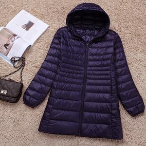 Image 4 - NewBang 브랜드 5XL 6XL 7XL 여성 다운 코트 여성 울트라 라이트 오리 롱 자켓 플러스 가을 겨울 파카 여성용 스포츠 용 재킷