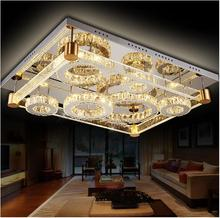 Modern rectangle Air bubble LED K9 crystal Acrylic Ceiling lamp Luxurious Lights charming amber Lighting effect