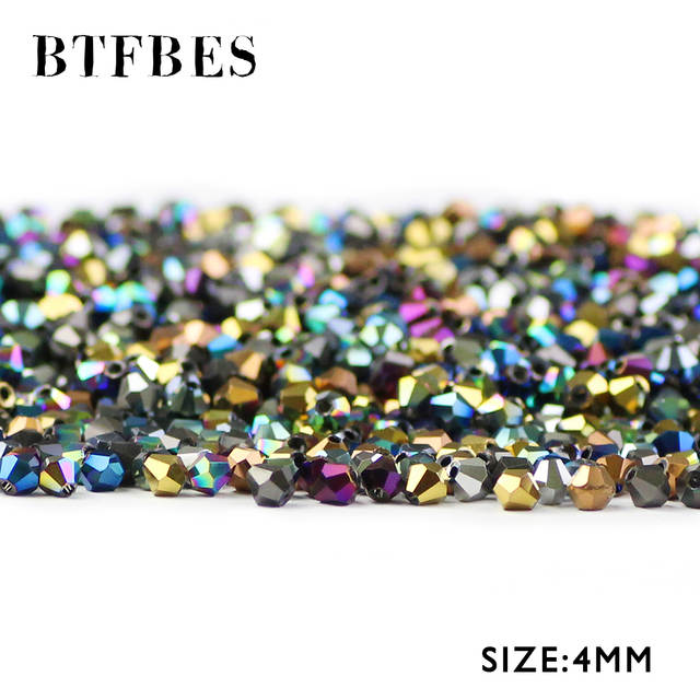 100 psc  Gold  Style Bicone Spacer Beads  4mm Jewellery Making