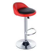 Homdox 2pcs Synthetic Leather Rotating Adjustable Height Bar Stool Chair Stainless Steel Stent 4 Colors N20A
