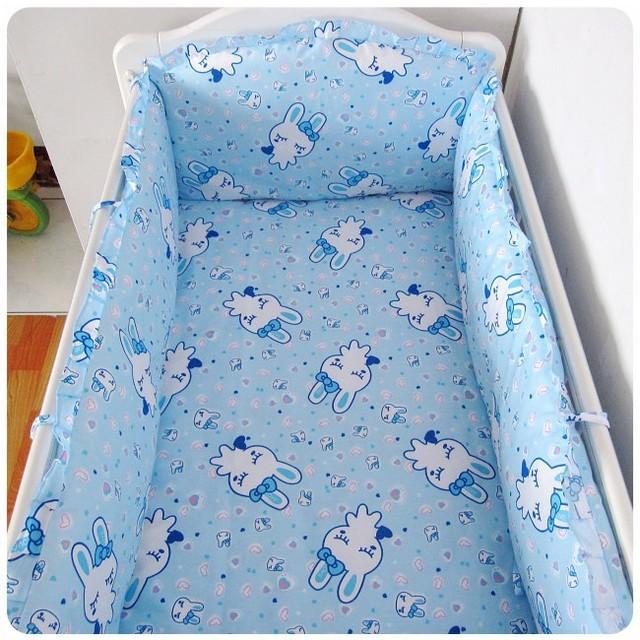 Promoção 6 PCS cama de bebê 100% algodão dos desenhos animados impresso conjuntos de cama berço