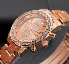 2017 Rose Gold Stainless Steel Women Watches Ladies Top Brand Luxury Famous Wrist Watch Female Rhinestone Clock Montre Femme