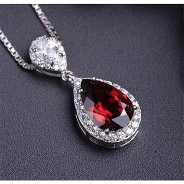 S925 sterling silver jewelry fine jewelry pendant for necklace water s925 sterling silver jewelry fine jewelry pendant for necklace water drop ruby pendants bridal aloadofball Gallery