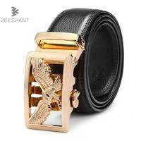 2017 Top Quality Cow Genuine Fashion Leather Men Belts For Men Automatic Buckle Strap Cinto Masculino