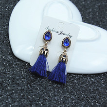 Long Tassel Earrings for women Pendientes Fashion Jewelry black and red colors female gifts