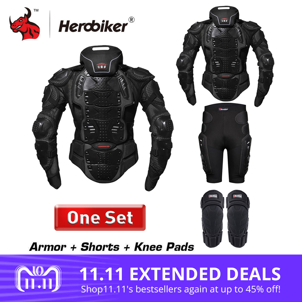 HEROBIKER Motorcycle Jackets Men Motorcycle Armor Protection Body Protective Gear Motocross Motorbike Jacket With Neck Protector herobiker motorcycle jackets men motorcycle armor protection body protective gear motocross motorbike jacket with neck protector