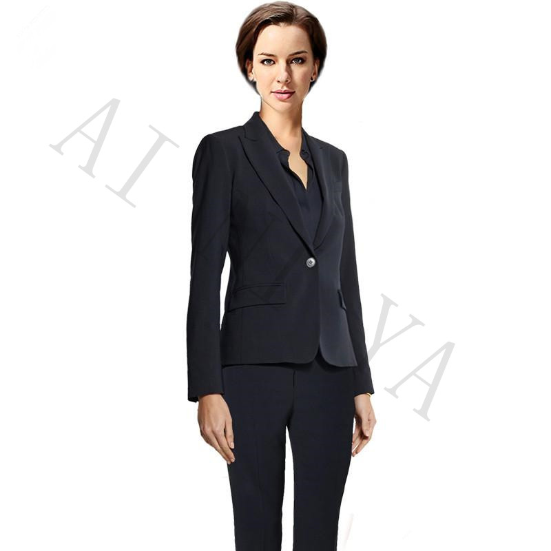Jacket+Pants Women Business Suits Double Breasted Female Office Uniform Formal Evening Prom Party Slim Ladies Trouser Suit