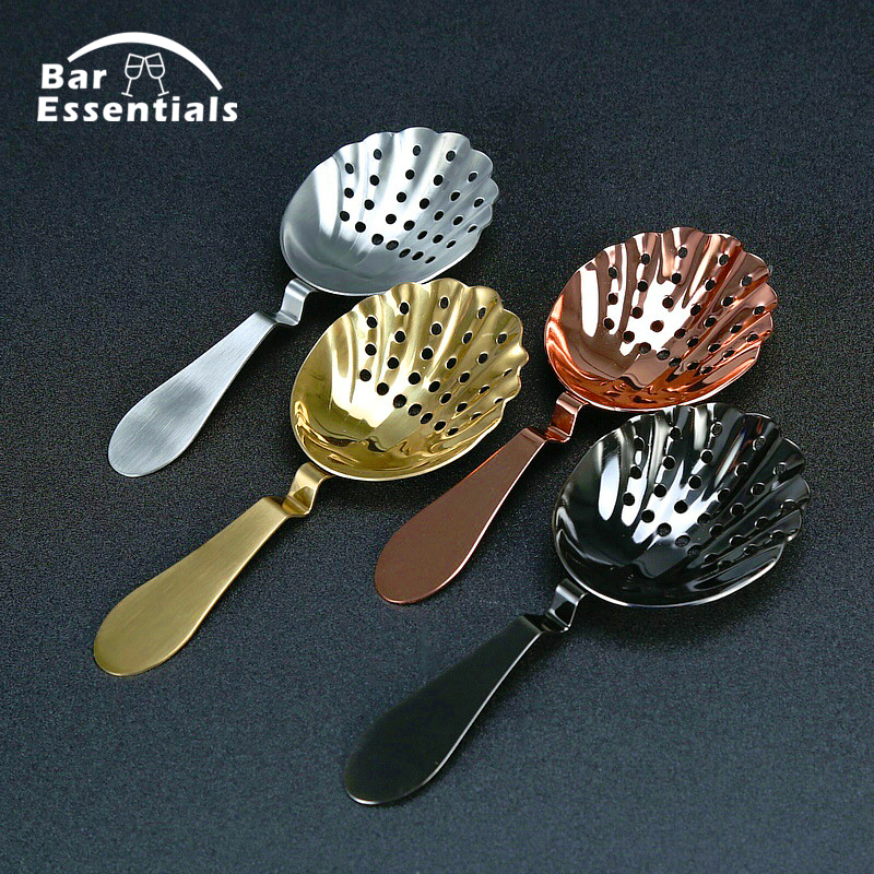 Professional Stainless Steel Sprung Julep Cocktail Strainer Drink Strainer for Bartenders