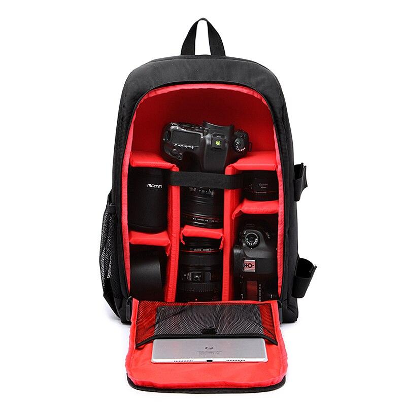 Upgrade Waterproof multi functional Digital DSLR Camera Video Bag w Rain Cover SLR Camera Bag PE