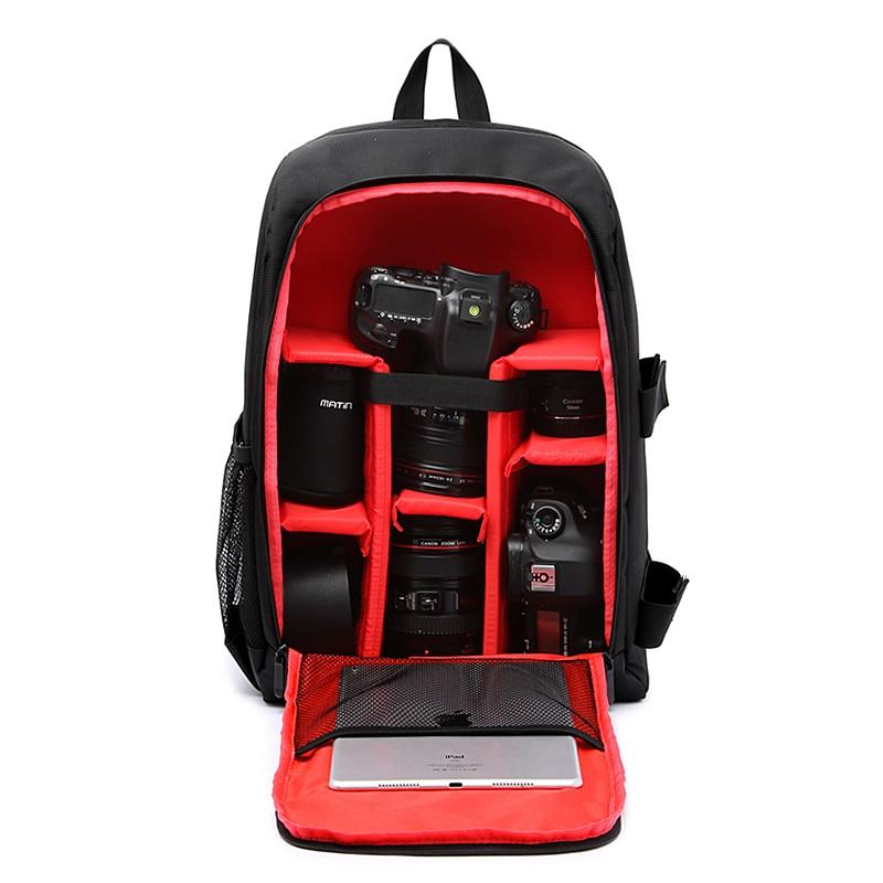 Upgrade Waterproof multi-functional Digital DSLR Camera Video Bag w/ Rain Cover SLR Camera Bag PE Padded for Photographer
