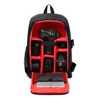 Upgrade Waterproof multi functional Digital DSLR Camera Video Bag w/ Rain Cover SLR Camera Bag PE Padded for Photographer