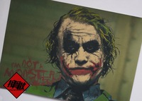 Batman Dark Knight Clown Classic Movie Poster Retro Kraft Paper Cafe Bar Interior Decoration