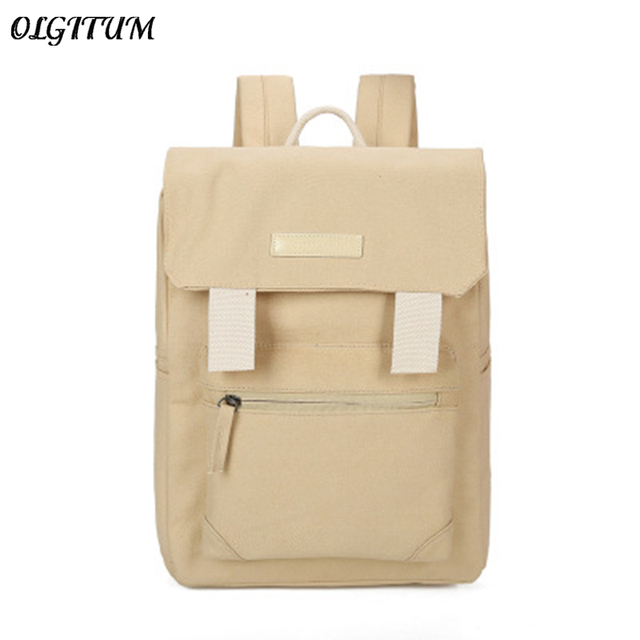 705fc8f987 Hot Sale 2018 Sweet Solid Color Canvas Cackpack Men and Women Casual Travel  Backpack High Quality