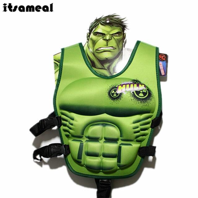 Crianças Colete Salva-vidas Colete Natação Piscina Círculo Acessórios Brinquedo de Super-heróis Hulk Maiô Protetor Solar De Energia Flutuante Natação Flutuabilidade