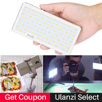 Ulanzi Iwata Ultra Thin Dimmable LED Video Light USB Built in Battery Photo Studio Fill Lighting 3000 5500K for DSLR Cameras