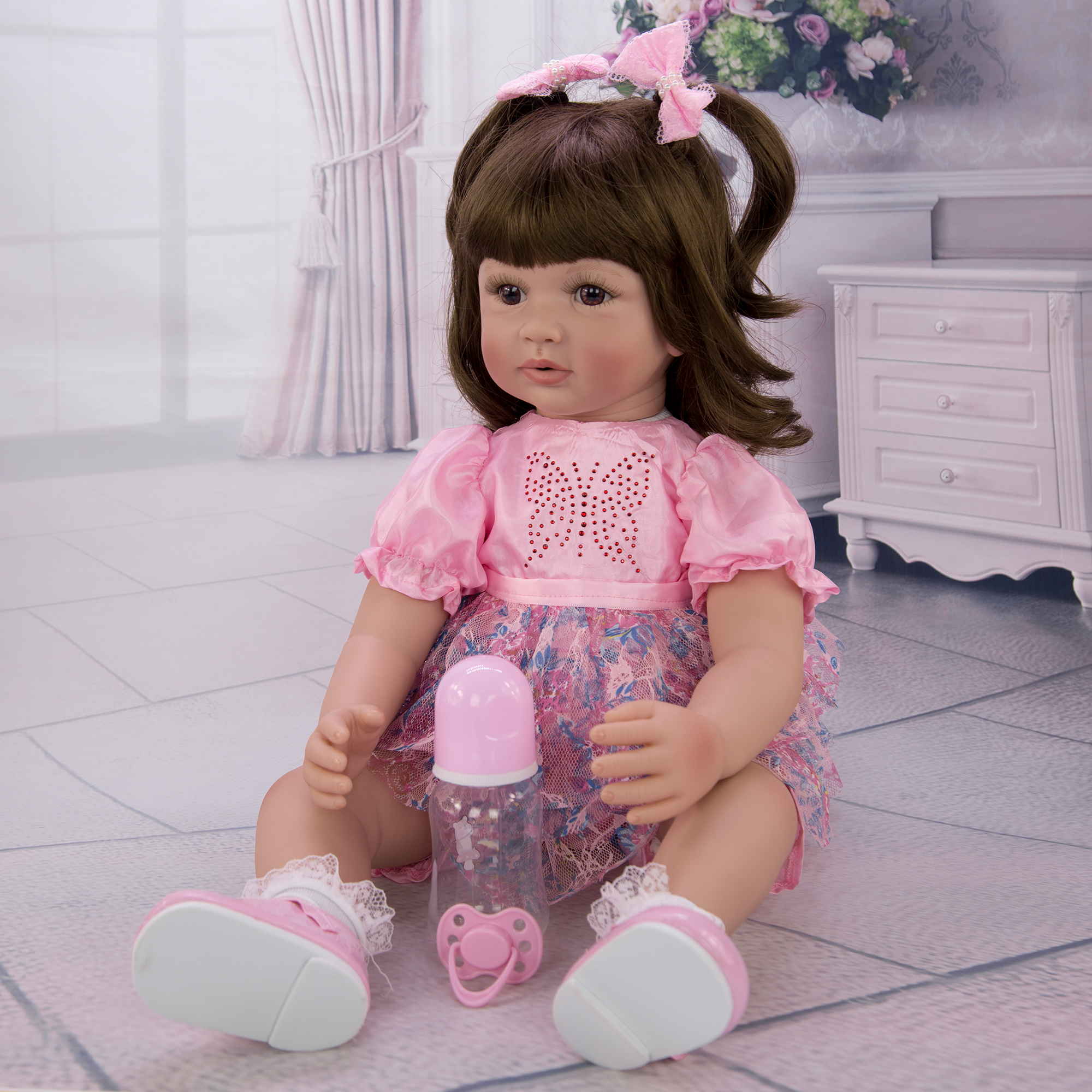 KEIUMI 24 Inch Reborn Puppen 60cm Tuch Körper Neugeborenen Mädchen Babys Spielzeug Prinzessin Boneca Baby Puppe Für Verkauf Kid geburtstag Geschenk Sammeln-in Puppen aus Spielzeug und Hobbys bei  Gruppe 3