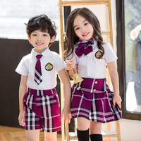 Aiqingsha Summer Boys Clothing Sets White Shirts+plaid Shorts Little Sister and Big Brother Matching Clothes for Age 3 14 Years