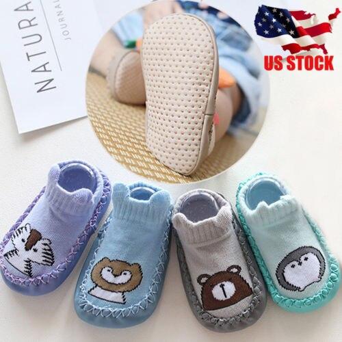 Crib-Shoes Prewalker Flower Soft-Sole Anti-Slip Animal-Print Infant Toddler Baby-Girl
