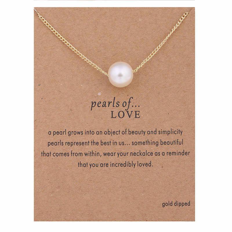Delikatna imitacja perły złoty kolorowy wisiorek naszyjniki łańcuszki sięgające obojczyka naszyjnik moda naszyjnik łańcuch kobiety biżuteria ślubna