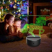 Светодиодный сенсорный 3d светильник акриловая лампа 7 цветов