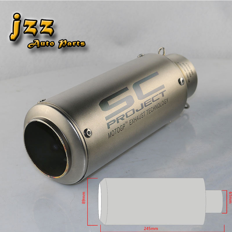 JZZ universal akrapovic motorcycle exhaust muffler for motorcycle escapes moto silencer db killer smoking pipe escape sound bomb modified akrapovic exhaust escape moto silencer 100cc 125cc 150cc gy6 scooter motorcycle cbr jog rsz dirt pit bike accessories