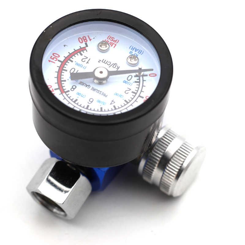 Airbrush pistola ajustar regulador de pressão do ar medidor água óleo armadilha filtro separador ferramenta pintura reparo automóvel do carro hvlp