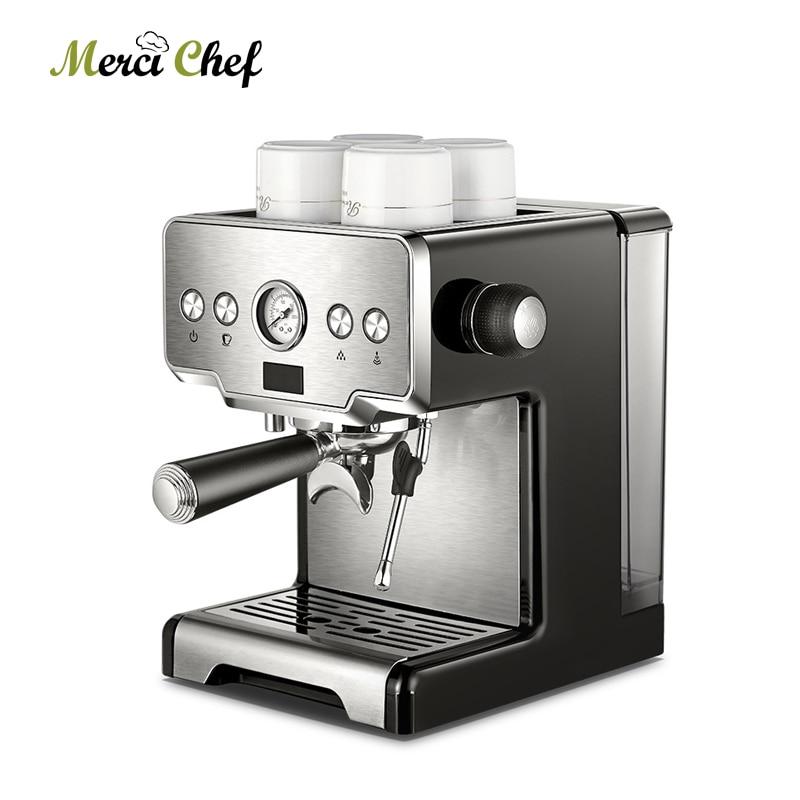 ITOP Commercial Coffee Maker 15Bars Espresso Coffee Machine With Milk Bubble Semi-automatic Italian Coffee Machine CE