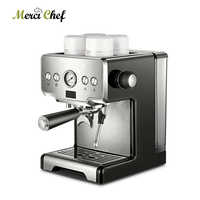 Machine à café expresso commerciale ITOP 15 Bars avec Machine à café italienne semi-automatique à bulles de lait CE