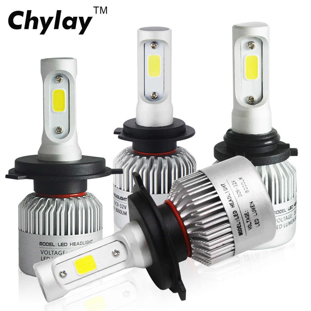 Car Light Bulbs H4 LED H7 H1 H11 H3 H8 H9 H27 HB3 9005 HB4 9006 881 Auto S2 Headlight Bulb 6500k 8000LM Led Automotivo Lamp 12V