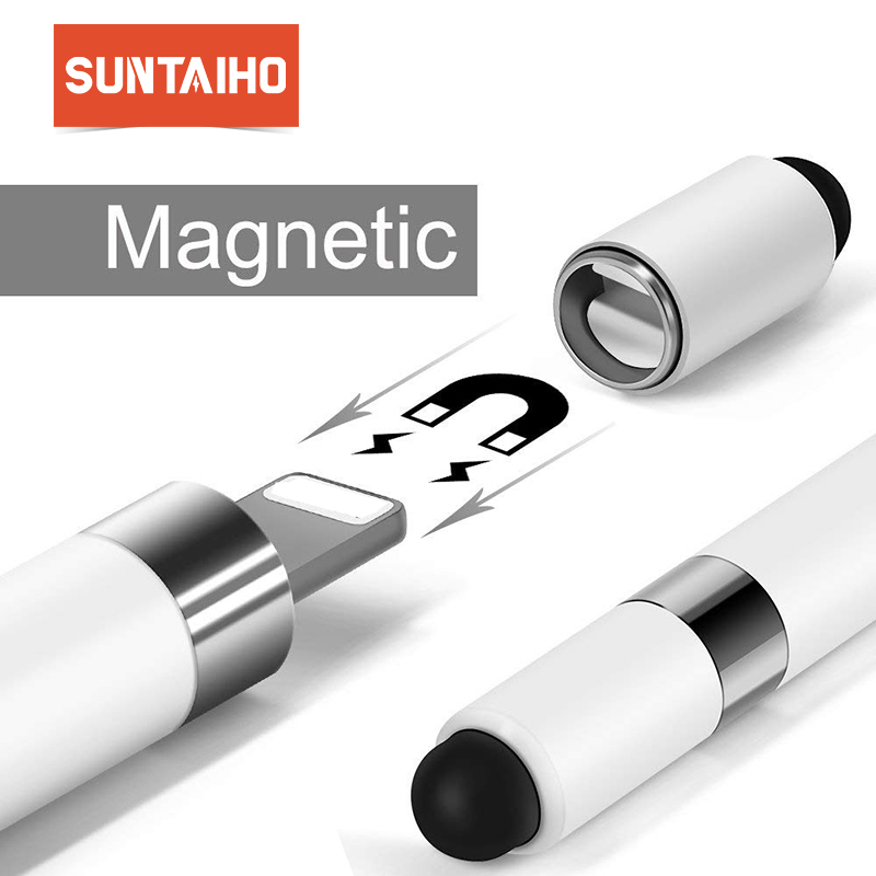 Suntaiho for apple pencil cap Magnetic Tip for ipad pencil stylus pen for iPad Pro 10.5 9.712.9 Pen cap Accessory 2018 smart pen touchpad stylus pen for ipad blue