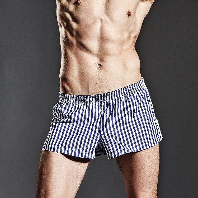 new Superbody mens casual shorts at home pajama boxers cotton striped shorts sizeM/L/XL/XXL