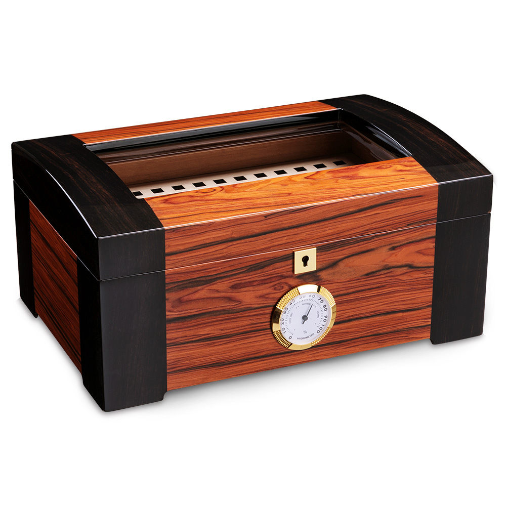 Mallette de rangement en bois de cèdre | Verre, haut, humidificateur, humidificateur, fumer, accessoires de cigares cadeaux
