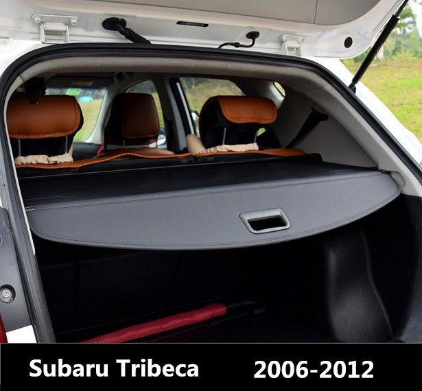 Car Rear Trunk Security Shield Cargo Cover For Subaru Tribeca 2006.07.08.09.10.11.2012 High Qualit Black Beige Auto Accessories car rear trunk security shield shade cargo cover for toyota highlander 2009 2010 2011 2012 2013 2014 2015 2016 2017 black beige