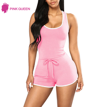 Pink Queen Backless Bodysuit Womens Romper Bodies Ladies Dames Kleding Mono Zomer Mujeres 2018 Pijamas Mono Mujer Coton
